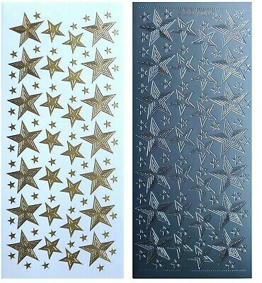 STARS IN STARS Peel Off Stickers Nesting Stars Card Making Gold or Silver