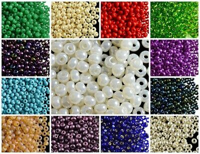 CHOOSE COLOR! 20g 6/0 (3.7-4.3mm) Seed Beads Preciosa Ornela Czech Pressed Glass