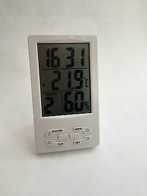 Digital LCD Humidity Hygrometer Temperature Meter Indoor/Outdoor UK