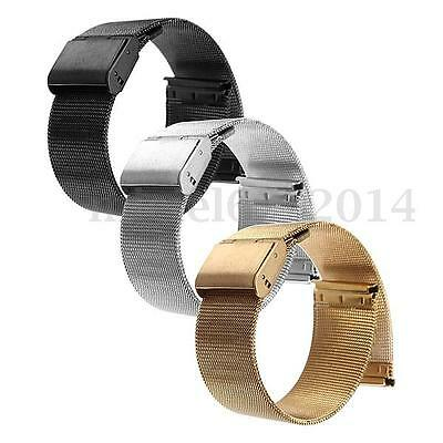 18-24mm Stainless Steel Watch Mesh Band Bracelet Strap Replacement for Men Women