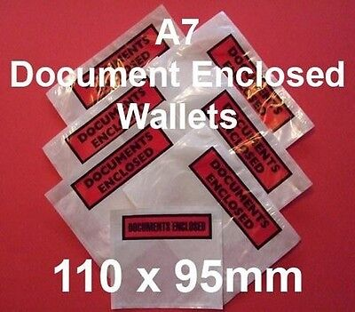 200 Documents Enclosed Versandtaschen A7 110mm x 95mm