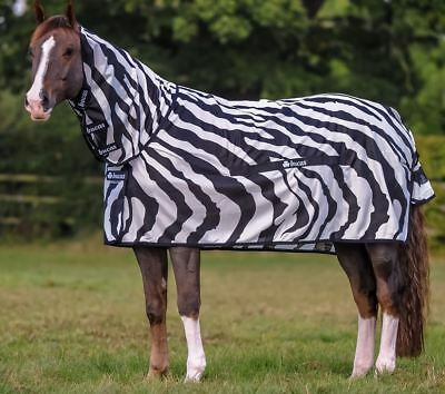 Bucas Buzz Off Zebra Full Neck Fly Rug - Free Shipping