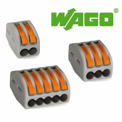 Wago 222 Series Spring Lever Reusable Terminal Block Connector 2 / 3 / 5 Way