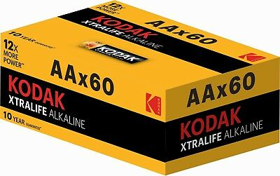 Kodak AA Xtralife Alkaline Battery ( pack of 60) LR6 1.5V MN1500 - EXP 2027