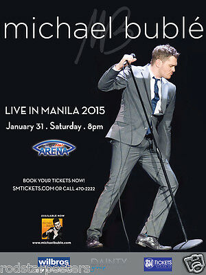 0469 Vintage Music Poster Art  - Michael Bublé Live In Manila