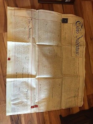 Huge Old Indenture Dated 1854 - Relates To Property And Works In Warrington
