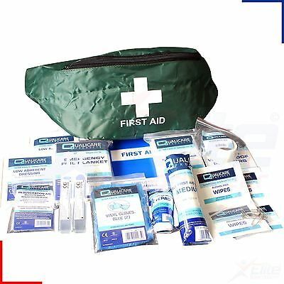 Bumbag First Aid Kit Travel, Hiking, Camping, Festival Pack Medical Emergency
