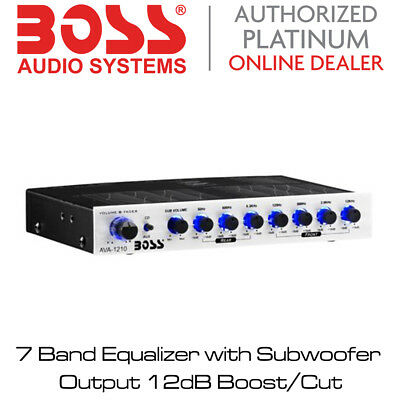 Boss Audio AVA-1210 - 7 Band Equalizer with Subwoofer Output 12dB Boost/Cut BNIB