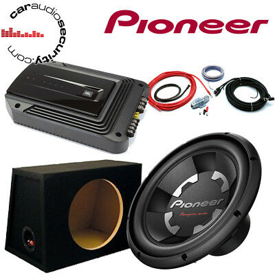 """Pioneer TS-W311S4 12"""" Subwoofer and JBL Amplifier Package Deal 1400 Watts"""