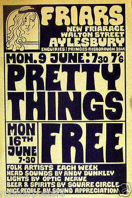 0484 Vintage Music Poster Art - Pretty Things And Free