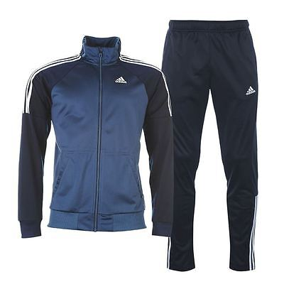 Mens Adidas Full Tracksuit Riberio Top Bottoms Blue/Navy Sports XS M L XL NEW