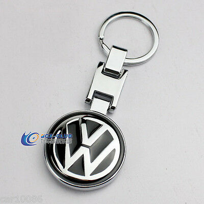CAR LOGO Pendant Keychain Double sided Key Chain Ring Chrome For Volkswagen#0302