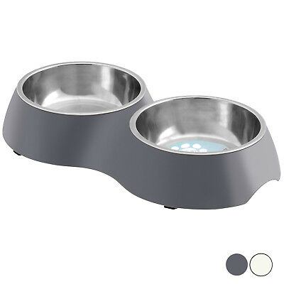 Me & My Twin Food/water Pet Feeding Bowl Dog/puppy/cat/kitten Non Slip Dish Big