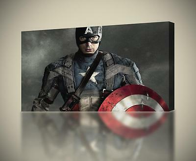 CAPTAIN AMERICA The Avengers CANVAS PRINT Wall Art Home Giclee *4 Sizes* CA176
