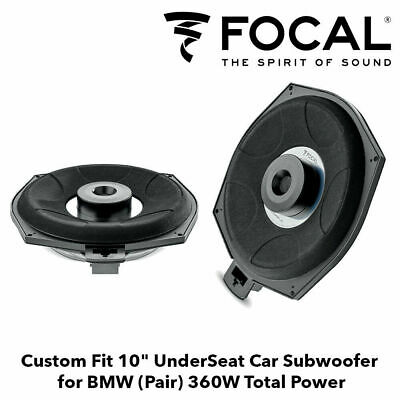 "Focal IFBMW-SUB BMW 1 3 5 Series X1 8"" Underseat Factory Fit Car Subwoofer PAIR"