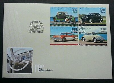 Aland Old Classic Cars 2005 Vehicle Transport (stamp FDC)