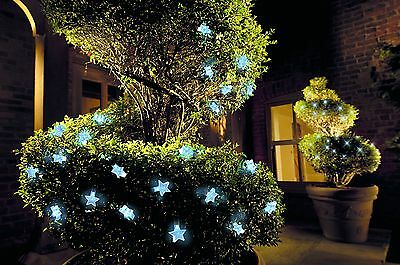 Cole & Bright 30 Solar LED Star 5cm String Lights Cable 3.9mHome Garden Outdoors
