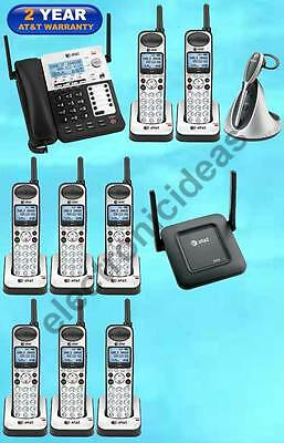 At&t Sb67138 Dect 6.0 4-Line 8 Cordless Phones + 1 Repeater + 1 Cordless Headset