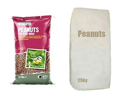 Peanuts 12.75/25kg Wild Birds Food Garden Outdoor Feeders High Protein Oil Rich