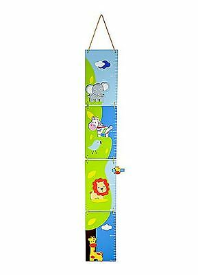 Kids Animal Safari Height Growth Chart Boys Girl Baby Nursery Bedroom Decoration