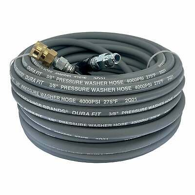 "Pressure Parts 1267691 100 ft 3/8"" Gray Non-Marking 4000psi Pressure Washer Hose"