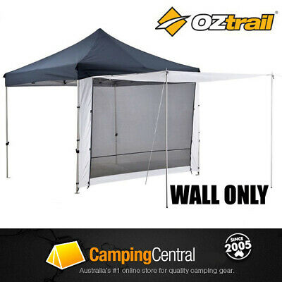 OZTRAIL MESH & SOLID 3m ZIP DOOR WALL for Deluxe Pavilion Gazebo Walls
