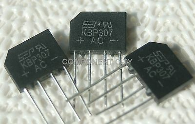 Bridge Rectifier 3 x KBP307 Full Wave 700Volts 3Amp Three Flat Rectifiers