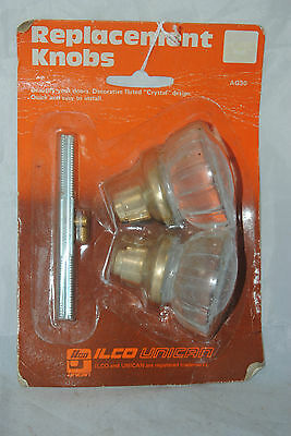 NOS in the container replacement set of Glass door knobs SOLD/ PRICED EACH