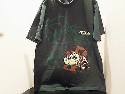 Vintage 1998 Warner Bros. Taz With His Shadow T-Shirt (Xl)Made U.s.a.-Very Rare