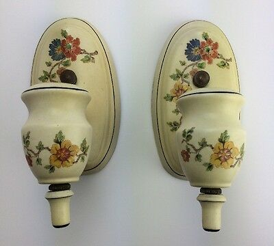 Antique Porcelain Victorian 30's Art Deco Wall Light Fixture Porcelier Sconce