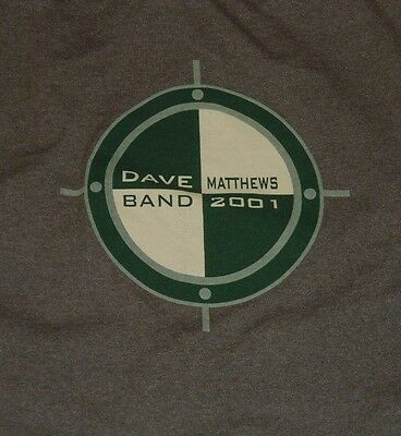 2001 Dave Matthews Band T Shirt XL Musictoday