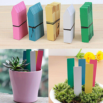 4'' Garden Plant Pot Markers Plastic Stake Tags Yard Court Nursery Seeds Labels