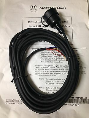 1 NOS MOTOROLA HKN6129A 17fT 2ND MIC FOR MCS2000 VHF UHF 800 RADIO
