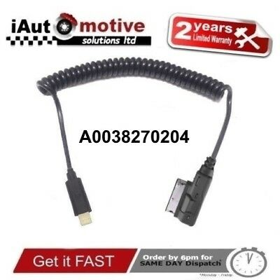 Mercedes C E S Class iPod iPhone 5 6 7 S Audio Interface Cable Lead A0038270204