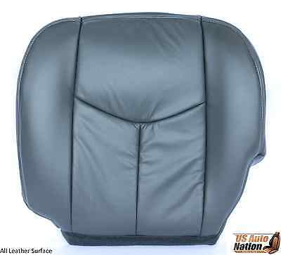2003 2004 2005 2006 GMC Sierra Front Driver Bottom Leather Seat Cover Dark Gray