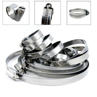 10 Stainless Steel Worm Drive Jubilee Fuel Hose Clamps Pipe Clips Clip Air Water