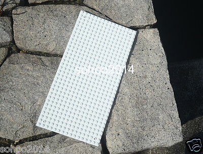 x2 NEW for Lego Base plate board Brick Building toy White 16 x 32 Dots