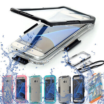Waterproof Shockproof Dirt Proof Clear Case For Samsung Galaxy Note 8 S8 S7 edge