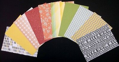 "STUDIO CALICO - 10 ASSORTED SCRAPBOOKING/CARDMAKING PAPERS 15cm x10cm  (6""x4"")"