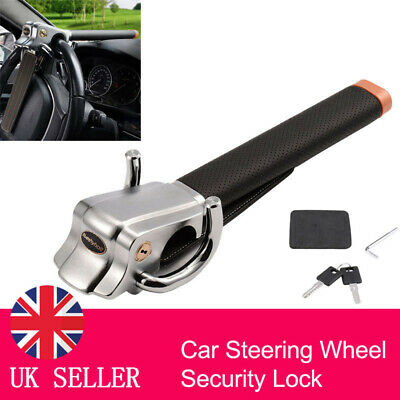 Foldable Car  Steering Wheel Anti Theft Security Airbag Lock  Safe Devices + Key