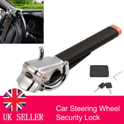 Portable Car Steering Wheel Anti Theft Security Airbag Lock Safe Device + 2 Keys
