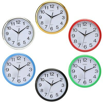 Large Vintage Round Modern Home Office School Retro Time Wall Clock Vintage Deco