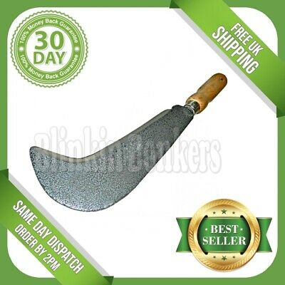 Heavy Duty Bill Hook Leather Handle Garden Weed Cutter Cut Down Tool Curved 22A