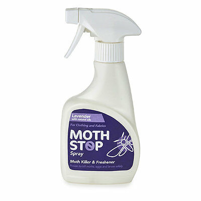 Lakeland Lavender Scented Moth Stop Clothes & Fabric Spray For Wool & More