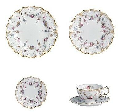 New Royal Crown Derby 2nd Quality Antoinette 30pc Dinner Service (Set1)