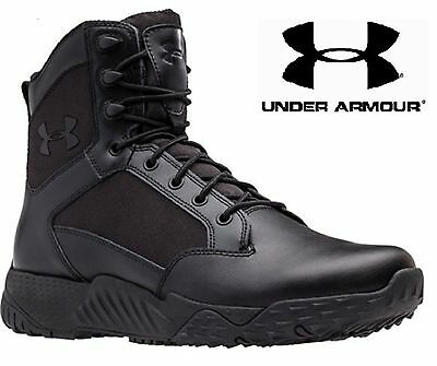 "Under Armour Black Stellar Tactical Boots - UA 8"" Field Duty Military Style Boot"