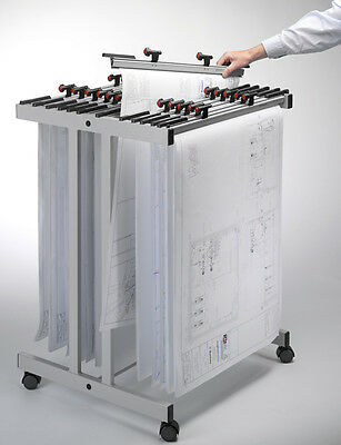 Vistaplan A1 Mobile Metal Trolley Carrier Artwork Drawing High Quality