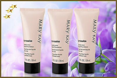 Mary Kay Base Fluida Mate TimeWise Lot of 1.2.3.- FRESH FULL SIZE.