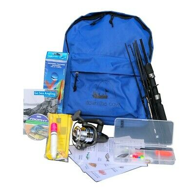 Complete Travelmaster 6ft Holiday Travel Fishing Kit with Tackle & Instructions!