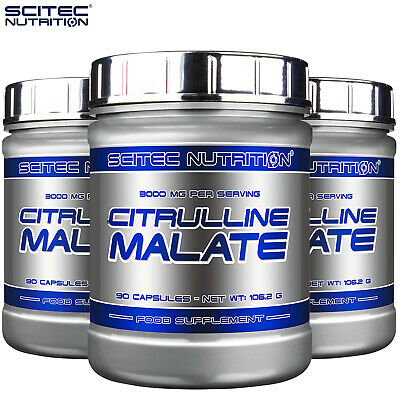 Citrulline Malate 90 Caps. Pre-Workout NO Booster Nitric Oxide Muscle Pump Pills